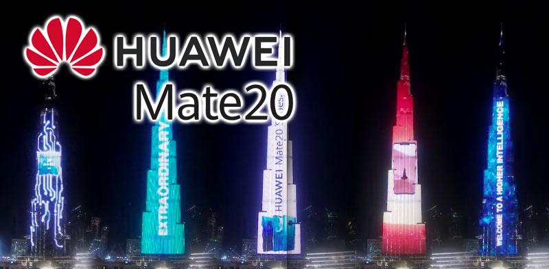 En vidéo : Pour son Mate 20, Huwaei s'offre un spectacle incroyable au Burj Khalifa