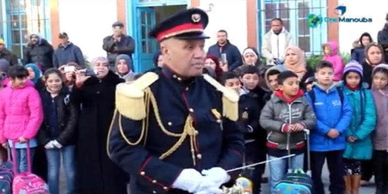 بالفيديو: موكب متميز لتحية العلم في المدرسة الابتدائية الجديدة الحديثة بولاية منوبة
