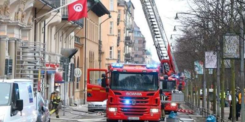 14 blessés après un incendie dans un bâtiment abritant les ambassades de Tunisie, du Portugal et d'Argentine à Stockholm
