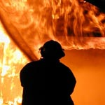 Une salle de classe au collège de Carthage Dermech incendié