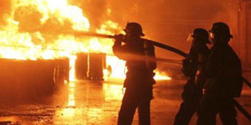 Incendie dans une usine à Zaghouan