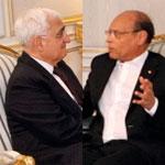 رئيس الجمهورية يتحادث مع وزير الخارجية الهندي