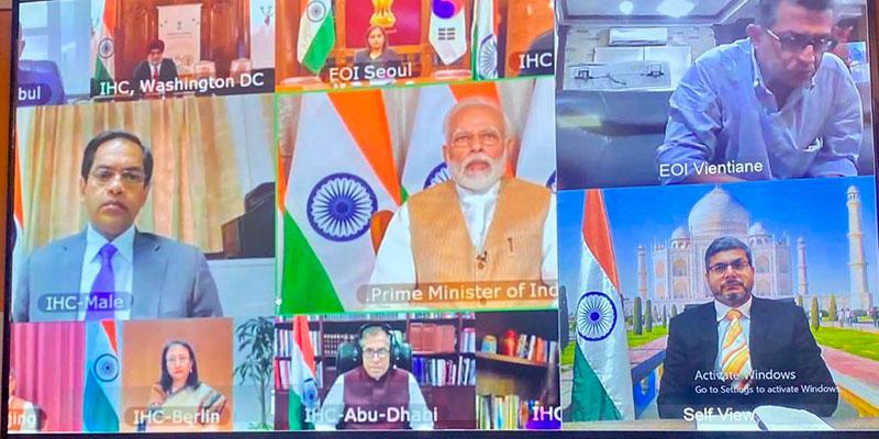 Par Vidéoconférence, le Premier Ministre Indien transmet ses voeux au gouvernement tunisien