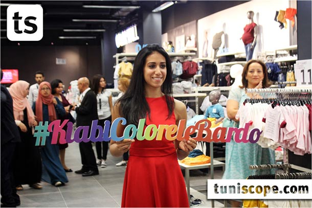 En photos : L'escrimeuse Ines Boubakri, invitée à l'ouverture de Kiabi Bardo