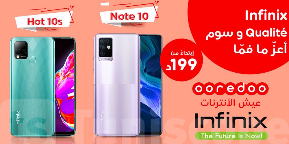 Nouveau pack Infinix Hot 10s & Note 10 chez Ooredoo