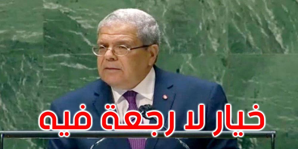 الجرندي في الأمم المتحدة: الديمقراطية في تونس خيار لا رجعة فيه وحقوق الإنسان مضمونة