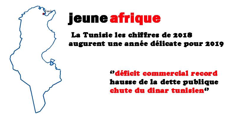 Quand Jeune Afrique dresse un tableau noir pour l'économie tunisienne en 2019 !