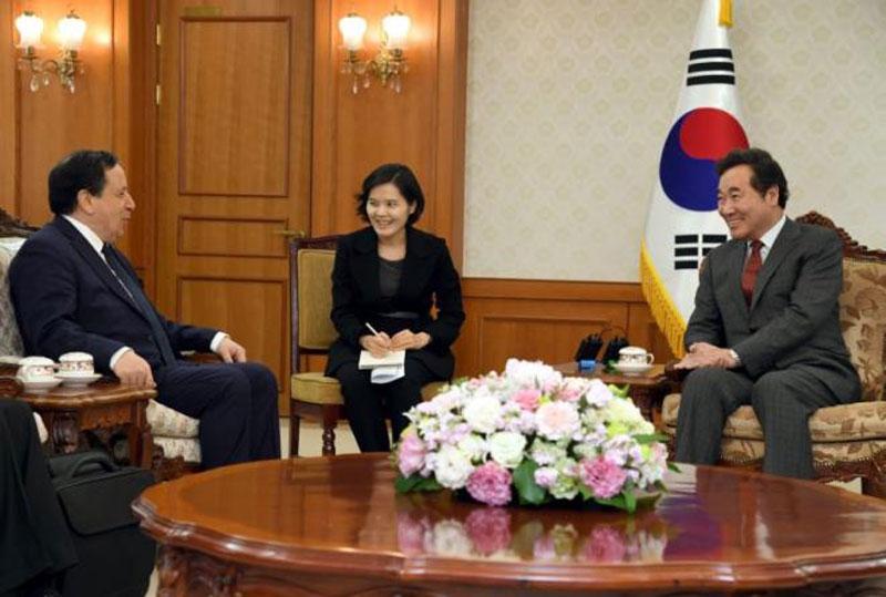 وزير الخارجية يلتقي بسيول الوزير الاول لكوريا الجنوبية