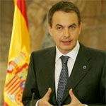 Arrivée de José Luis Zapatero à Tunis