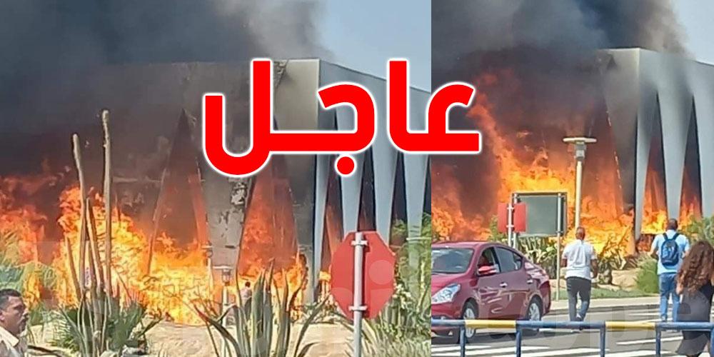 عاجل: حريق هائل يلتهم قاعة مهرجان الجونة السينمائي