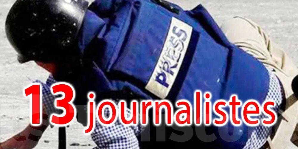 13 journalistes agressés en mai dernier