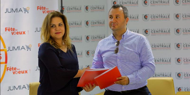Signature d'une convention entre l'Université Centrale et Jumia