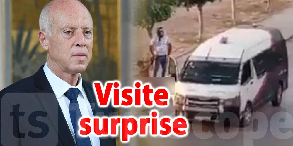 Kaïs Saïed se rend à Sidi Hassine