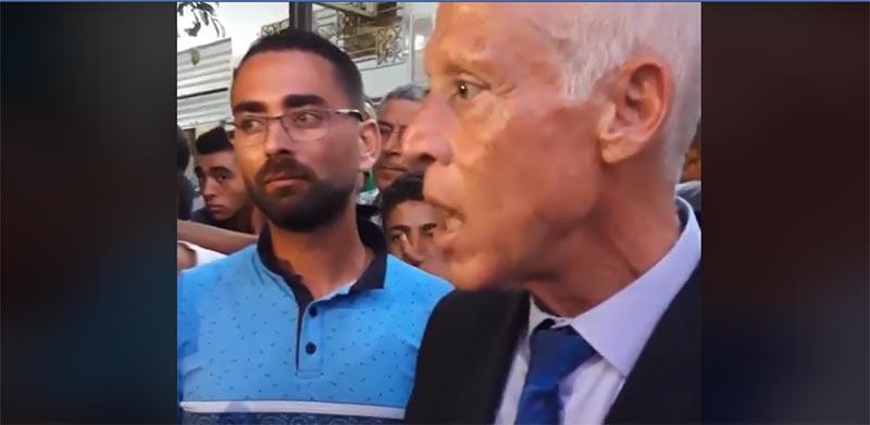 فيديو: كما لم تسمعوه من قبل..قيس سعيّد يتكلم'' بالدارجة'' مع المواطنين