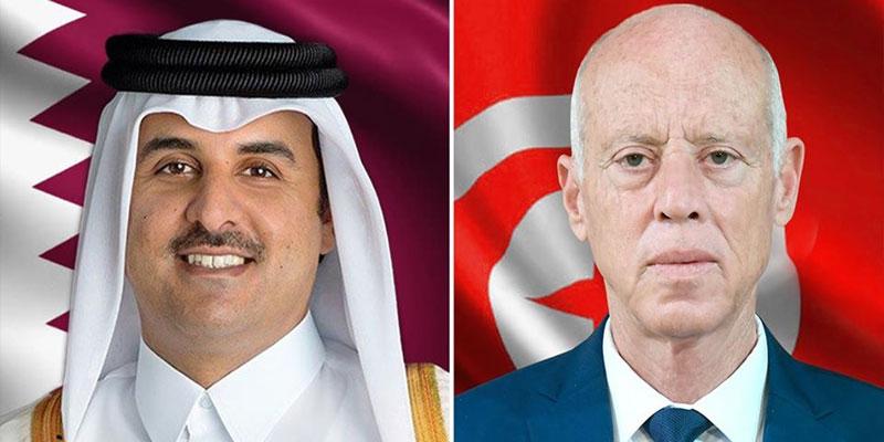 ازمة كزرزنا..سعيّد لأمير قطر: ''تونس تضع كلّ إمكانياتها على ذمّة الشعب القطري''