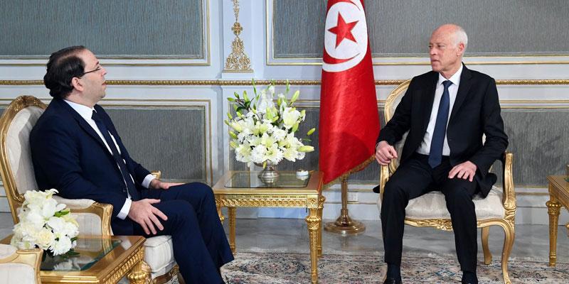 Kaïs Saïed reçoit Youssef Chahed