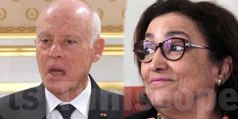 C'est comme si Kais Saied ne vivait pas en Tunisie, déclare Bochra Bel Haj Hmida