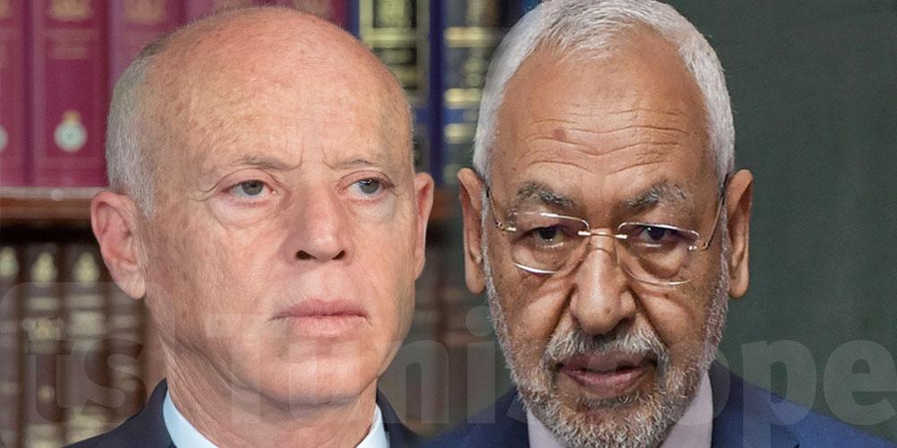 Kais Saied et Rached Ghannouchi au téléphone