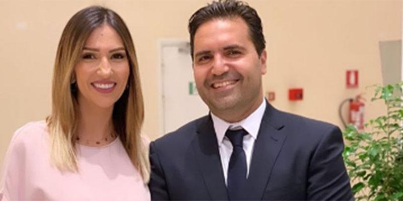 المترشح حاتم بولبيار و زوجته في فيديو مثير للجدل  إثر المناظرة التلفزية