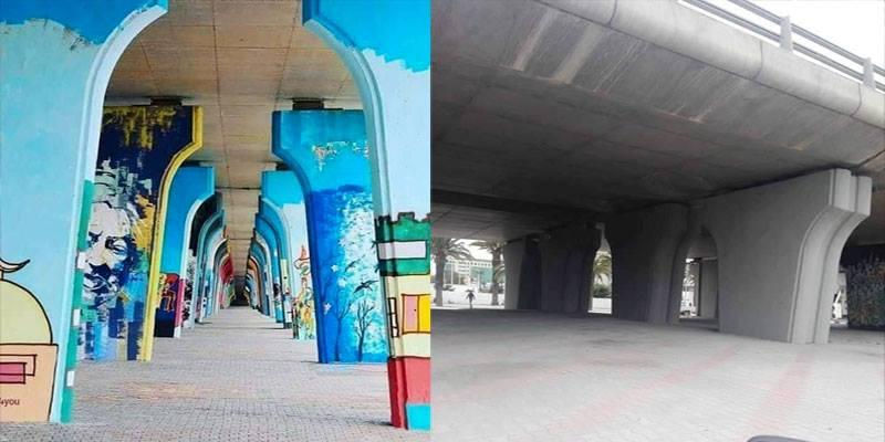 محو أعمال فنّية بقنطرة في العاصمة يُثير الجدل: الشّاهد يتدخّل