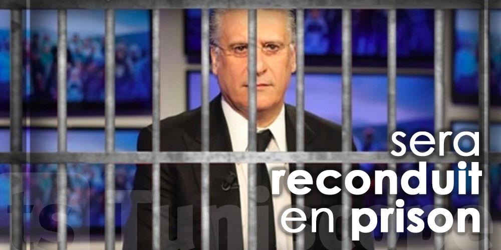 Nabil Karoui sera reconduit en prison dès que son état de santé s'améliorera