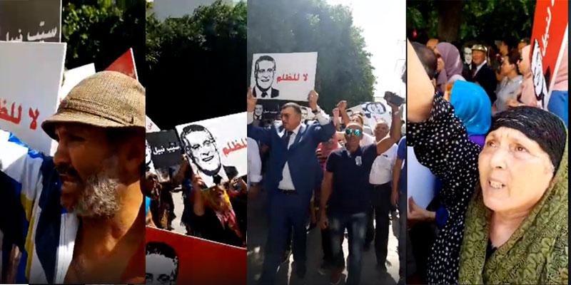 Manifestation de soutien à Nabil Karoui