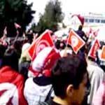 En images : Maintenant, les foules de manifestants se dirigent vers la Kasbah
