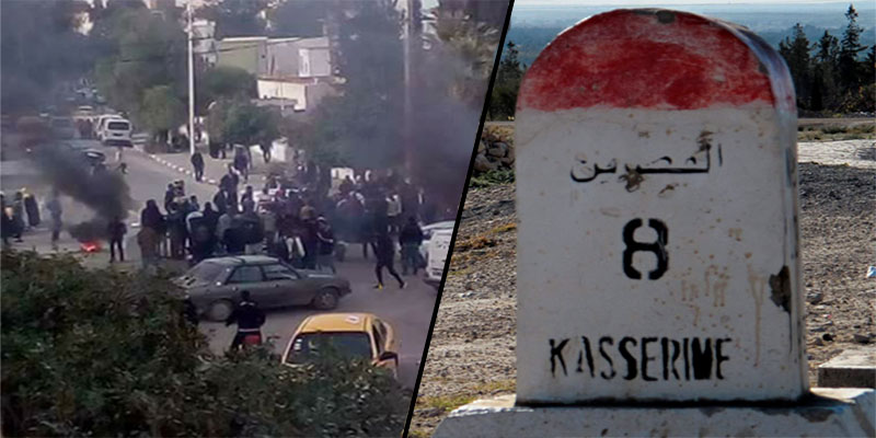En photos: Reprise des protestations à Kasserine