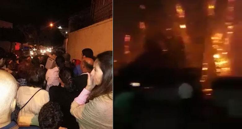 فيديو..اندلاع حريق هائل بحي الخضراء