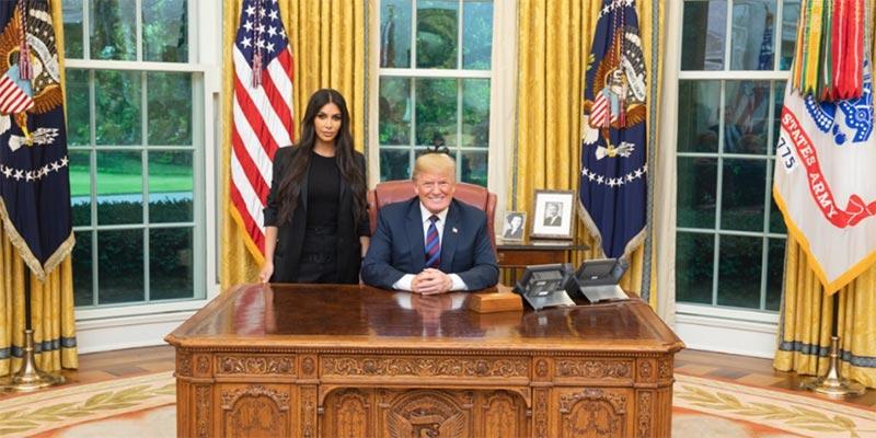 كاردشيان بالبيت الأبيض لنقاش ''رائع'' مع ترامب
