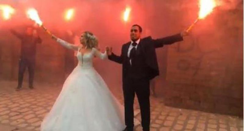 بالفيديو: بحضور ''زازا''، كلاي بي بي جي يحتفل بزواجه في أجواء صاخبة بباب جديد