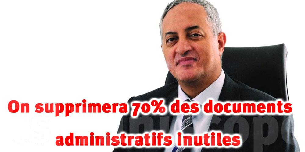 On supprimera 70% des documents administratifs inutiles