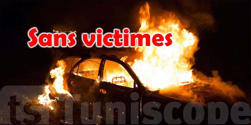 Deux individus masqués mettent le feu dans les voitures de la garde nationale de Monastir