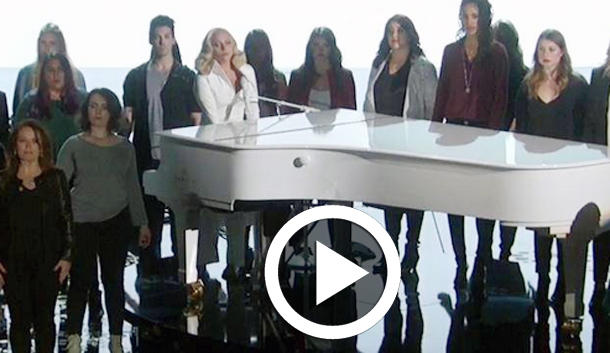 En Vidéo-osacrs 2016 : Standing ovation pour Lady Gaga et sa chanson qui dénonce les abus sexuels