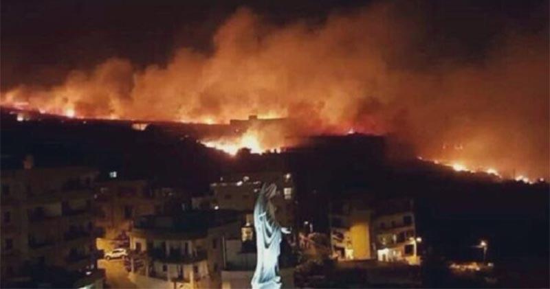 وزير البيئة اللبناني: الحرائق ''مفتعلة''