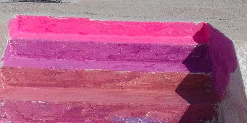 تلوين مدرج صهريج الفسقية في تعدّ صارخا على التراث الوطني
