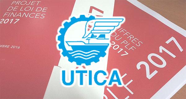 Les remarques de l'UTICA sur la loi de finance 2017