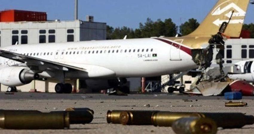 ليبيا: صواريخ تستهدف مطار معيتيقة الرئيسي أثناء زيارة مسؤولين دوليين لبحث السلام