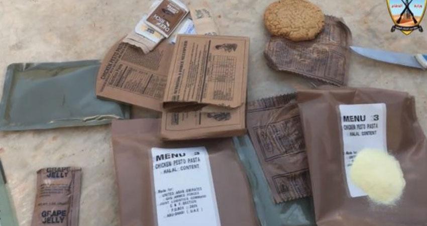 فيديو..وجبات إماراتية في حقائب الجيش الليبي