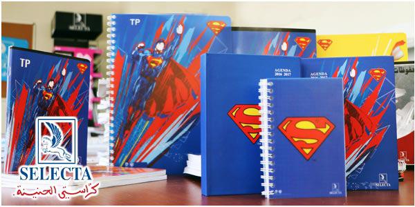 En Vidéo : Les cahiers SELECTA habillés en Superman et Batman les super héros les plus célèbres !