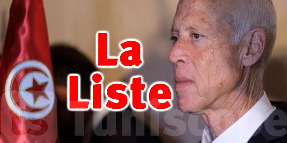Tunisie-Limogés par Saied : La liste