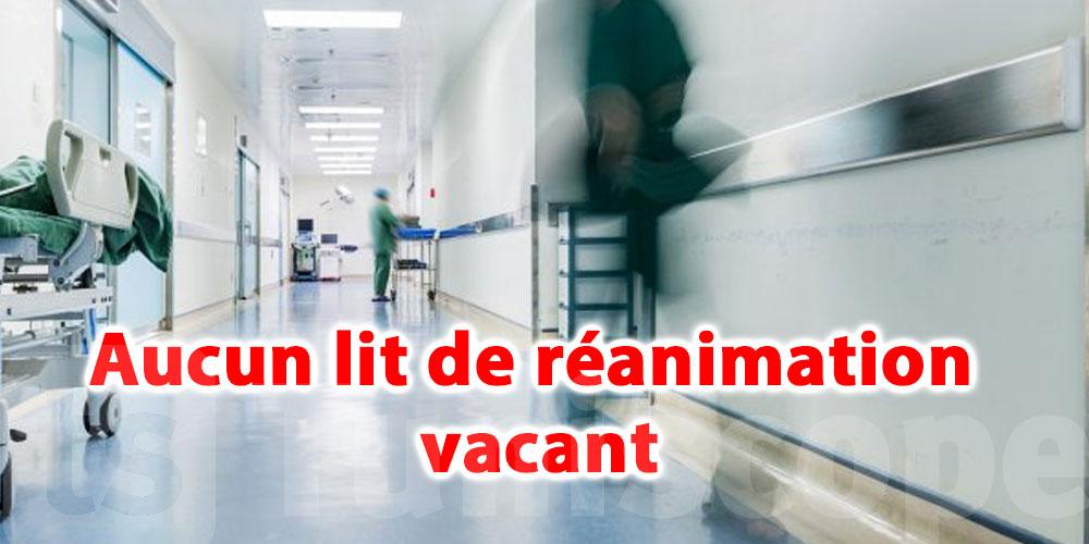 Aucun lit de réanimation vacant à l'hôpital régional de Tozeur