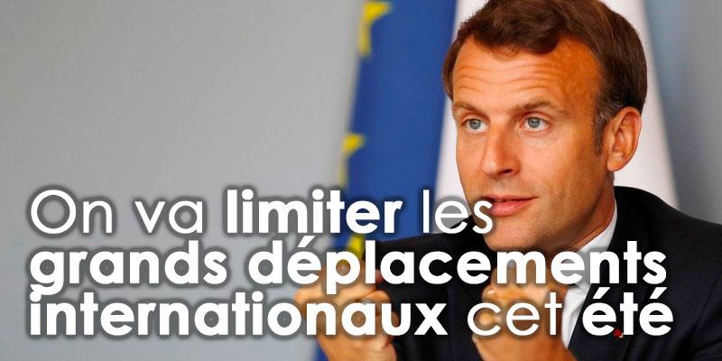 On va limiter les grands déplacements internationaux cet été, annonce Emmanuel Macron