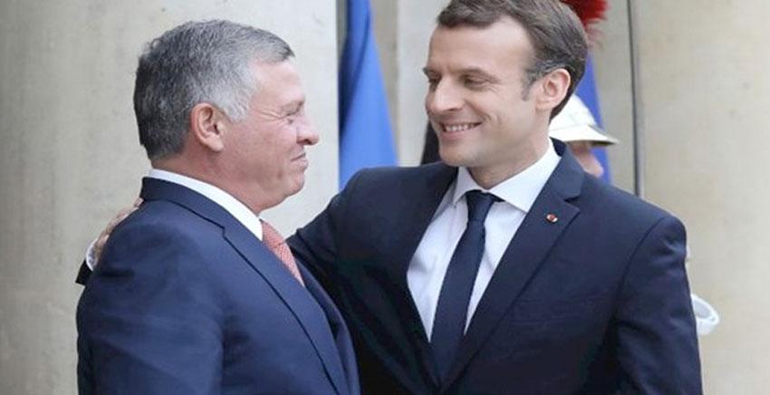 ماكرون: فرنسا مستعدة لحفظ الأمن على الحدود السورية الأردنية<