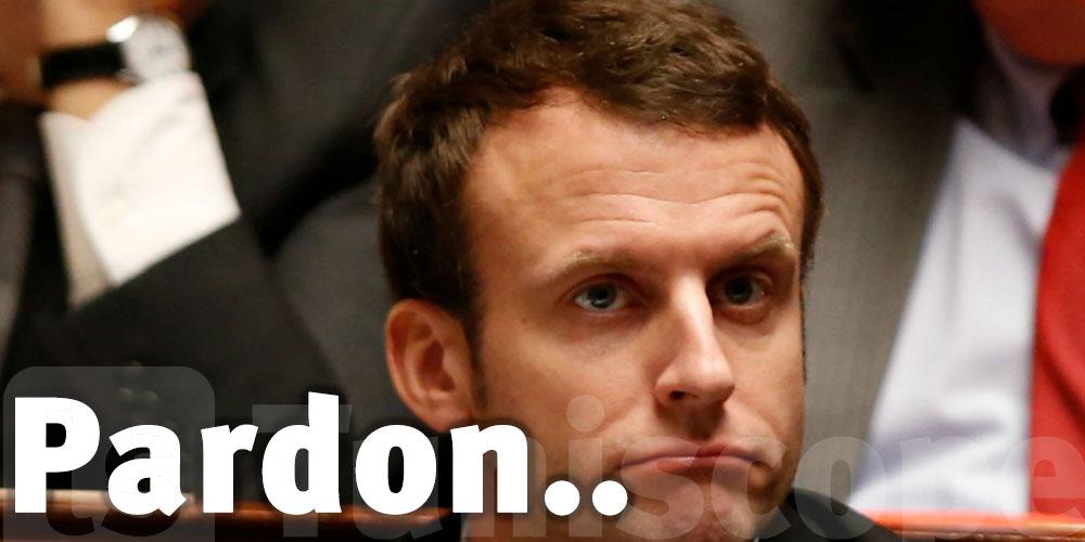 Macron demande pardon
