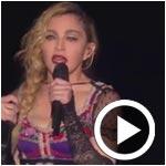En vidéo : Madonna pleure et chante pour Paris