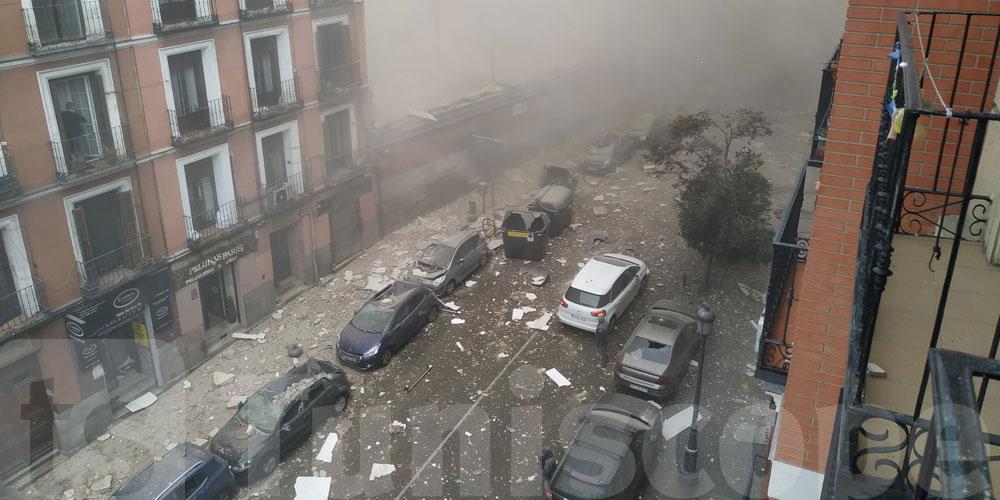 بالفيديو: انفجار عنيف يهزّ العاصمة الإسبانية مدريد