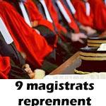 9 magistrats parmi les 82 révoqués, reprennent leurs services
