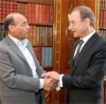 Bertrand Delanoë Maire de Paris reçu par M. Marzouki