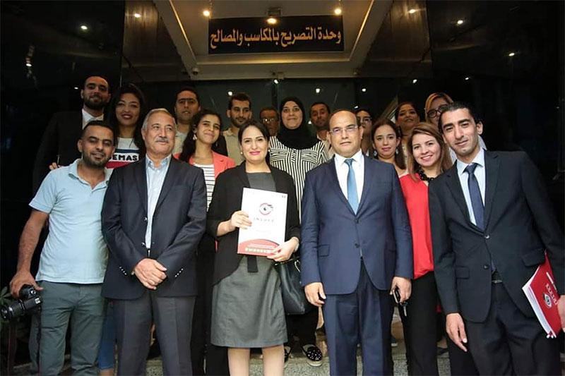 بالصور، ماجدولين الشارني تزور الهيئة الوطنية لمكافحة الفساد للتصريح بالمكاسب